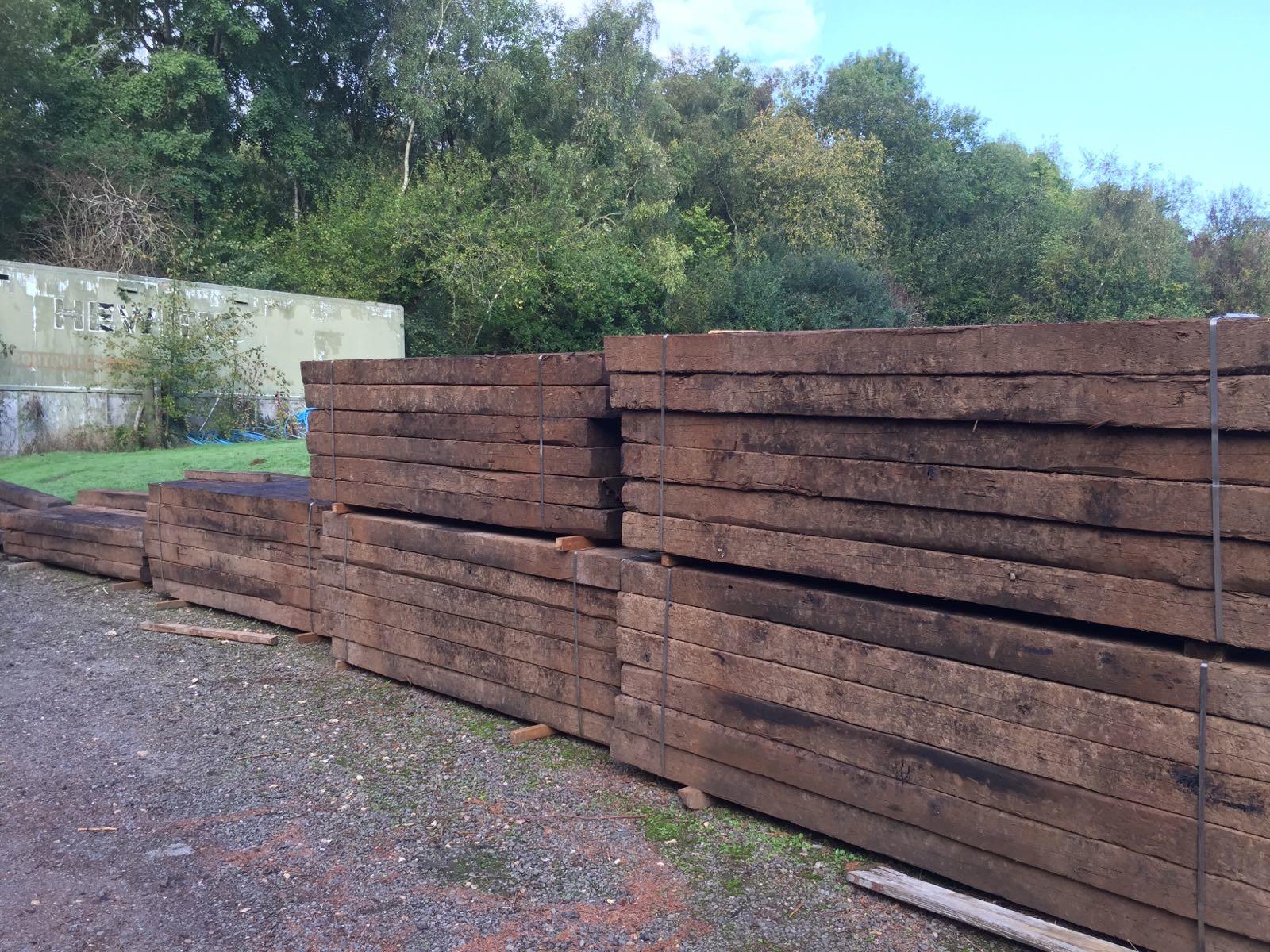 Reclaimed Grade A Railway Sleepers   Haslemere Log Man
